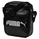 Puma Campus 黑 斜背包 皮革 腰包 運動腰包 側背包 隨身腰包 單速車 單肩包 小方包 運動 07500401