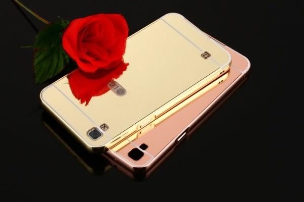 樂金LG X Power 金屬邊框鏡面背板防摔殼 LG X Power 鍍面保護殼 後蓋式【預購中】