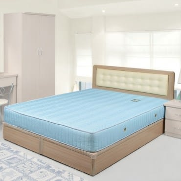 Homelike 艾凡6尺床組+獨立筒床墊-雙人加大(白橡木紋)