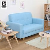 【多瓦娜】帕斯尼貓抓皮時尚雙人沙發/三色水藍