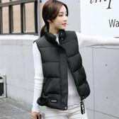 背心外套 寬鬆休閒羽絨棉馬甲女學生棉服外套女裝棉衣馬夾背心  都市時尚