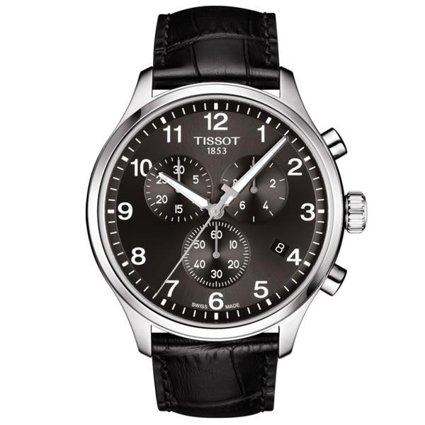 【僾瑪精品】TISSOT天梭 CHRONO XL 韻馳系列計時錶-黑/T1166171605700