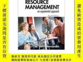 二手書博民逛書店Human罕見Resource Management: An Experiential ApproachY30
