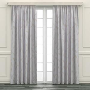 HOLA 羽葉印花半腰窗紗 270x165cm 白色