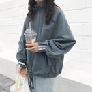 大學T 工裝女超火薄款外套新款韓版ins潮慵懶風bf寬鬆外套頭 - 歐美韓