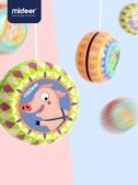 兒童悠悠球女彩色炫酷鐵皮溜溜球玩具