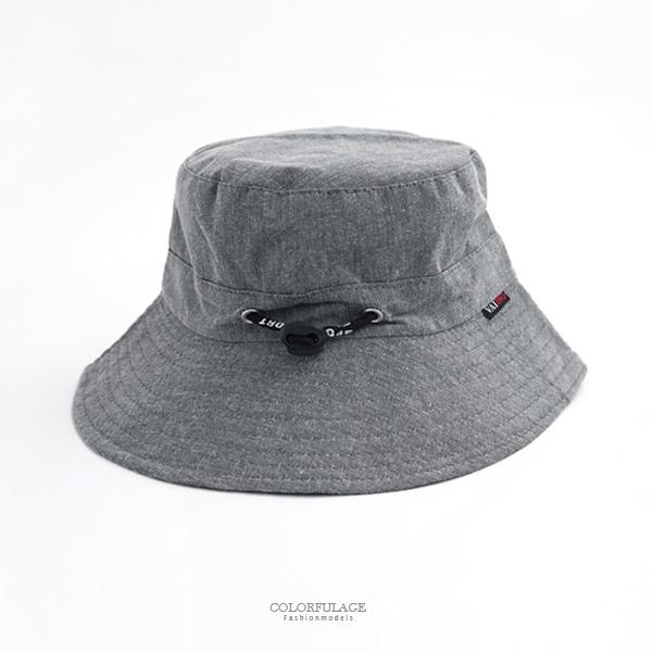 帽子 灰色可調式漁夫帽【NH255】