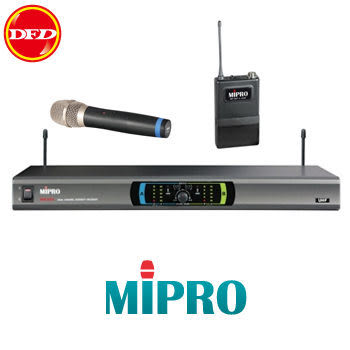 MIPRO 嘉強 MR-823 雙頻道自動選訊接收機 雙手握/雙領夾/1手握1領夾 公司貨 MR823