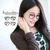 韓國復古小圓金屬腳造型平光鏡【G96603】☆璀璨之星