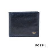 FOSSIL Ryan 海軍藍真皮RFID短夾 男 ML3729400