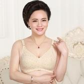 夏中老年女式純棉文胸媽媽無鋼圈薄款內衣加大碼大罩杯胸罩