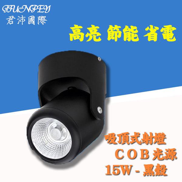 led投射燈 安裝於天花板 適用 COB光源 15W/15瓦 明裝3001 免運費 廠家直送 (黑殼)