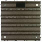 太陽神塑木止滑LED地板30X30-深灰