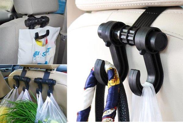 PNS 耐重型 頭枕式 超大掛勾 可承受6公斤 多功能 車內掛勾 卡榫設計 行駛掛勾不晃動 靜音掛勾