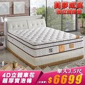 【IKHOUSE】美夢成真|獨立筒床墊-超厚30公分頂級床墊-單人3.5尺-可接受尺寸訂製
