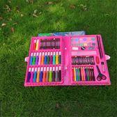 水彩筆兒童節禮物86件套畫筆蠟筆兒童水彩筆繪畫工具禮盒套裝文具   color shop