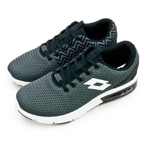 LIKA夢 LOTTO 緩震氣墊慢跑鞋 ARIA CHINO 系列 黑灰白 6580 男