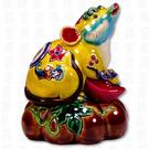 鹿港窯-居家開運商品-台灣國寶交趾陶S十二生肖文鎮-鼠◆附精美包裝◆免運費送到家