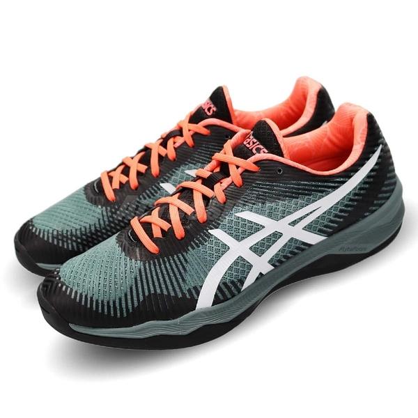 【六折特賣】Asics 排羽球鞋 Volley Elite Cluster 灰 黑 SpEVA 舒適中底 運動鞋 男鞋【PUMP306】 TVR7211001