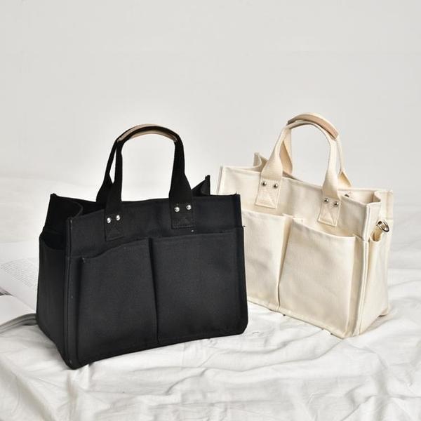 帆布商務手提文件包女簡約A4公文包時尚