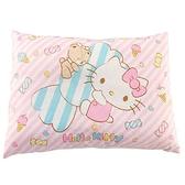小禮堂 Hello Kitty 方形棉質嬰兒枕頭 兒童枕頭 定型枕 寶寶枕 午睡枕 (粉 糖果) 4710482-07513