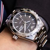 EMPORIO ARMANI 亞曼尼 AR6047 經典鋼黑石英腕錶 熱賣中!