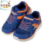 《布布童鞋》SKECHERS_GO_RUN400海藍橘兒童運動鞋(14~16公分) [ N8K680B ]