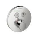 【麗室衛浴】德國HANSGROHE ShowerSelect 系列15743 高流量定溫 二路開關面板