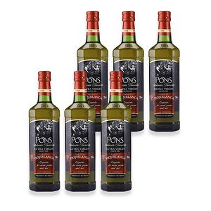 (組)西班牙PONS特級冷壓單品橄欖油Hojiblanca750ML 6入組