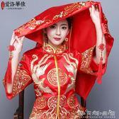 新娘結婚紅蓋頭喜蓋頭紗喜帕蒙頭巾婚慶中式刺繡緞面蓋頭 晴天時尚館
