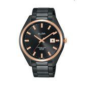 ALBA雅柏 新上市LOVER對錶  男生款 VJ42-X250K(AS9F82X1)-黑x玫塊金框