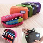 化妝包手機包存摺包收納包~ 巴巴~夾層多 零錢包旅行包口紅鉛筆盒