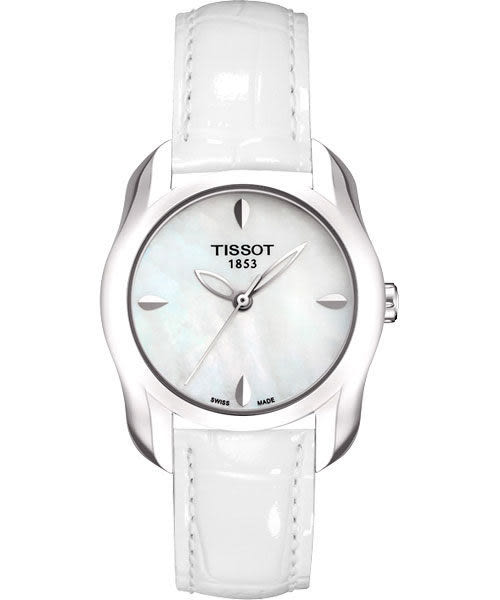 TISSOT 天梭 T-Wave 心漾美姬手錶-珍珠貝/白 T0232101611100
