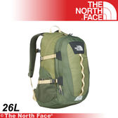 【The North Face 26L 15吋電腦背包《深橄綠/軍綠》】CE80-M8N/筆電包/工作包/後背包/登山★滿額送