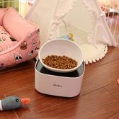 法斗狗碗專用狗食盆寵物貓餐桌架子扁臉狗碗貓碗斜口碗寵物餐桌-Ifashion