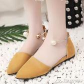 仙女鞋夏季新款包頭涼鞋女平底簡約羅馬鞋原宿風韓版百搭女鞋  潮流前線