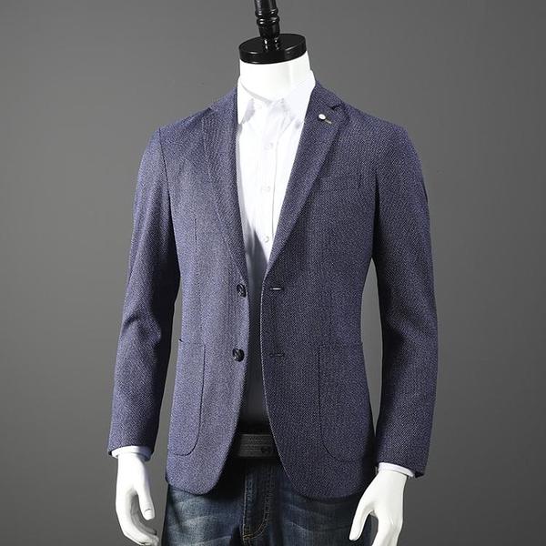 西裝 色織棉面料 外貿男裝剪標原單商務休閑韓版修身西服西裝外套單西 南風小鋪