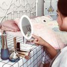 led化妝鏡帶燈臺式桌面公主梳妝鏡抖音折...