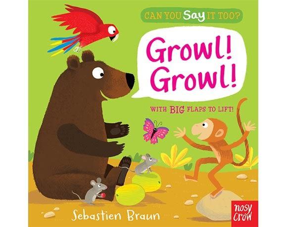 Can You Say It Too? Growl! Growl! 野外動物 精裝硬頁翻翻書(美國版)
