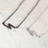 項鍊 925純銀鑲鑽墜飾-閃電造型生日情人節禮物女飾品2色73gy52【時尚巴黎】