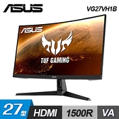 【ASUS 華碩】TUF 27型 VA曲面電競螢幕 (VG27VH1B) 【贈收納包】