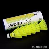 塑料羽毛球耐打王尼龍羽毛球6只裝不爛室外防風訓練羽毛球yy 創時代