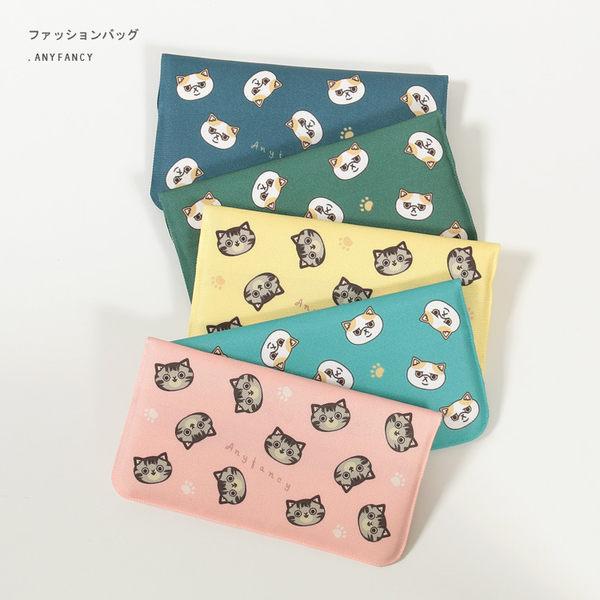 韓版實拍貓咪頭可愛手機包收納包女士女用手拿包長夾零錢包方便包