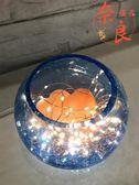 現代簡約臺燈玻璃小夜燈喜馬拉雅鹽燈裝飾【奈良優品】