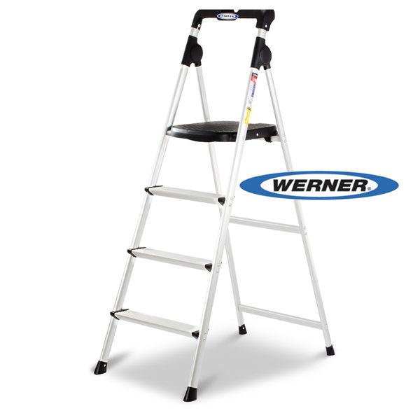 美國Werner穩耐安全梯-AJ4-1 4階大平台鋁梯   家用梯 A字梯 梯子