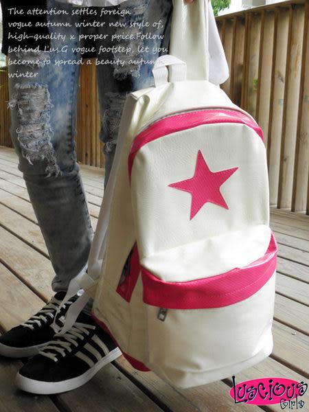 【Lus.G】美式休閒Star後背包