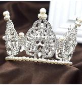 兒童頭飾 兒童皇冠頭飾公主舞台表演飾品女童水圓形小皇冠女孩生日王冠【全館免運】
