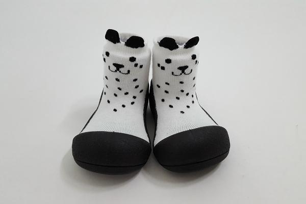 韓國 Attipas 快樂腳襪型學步鞋-白色喵喵