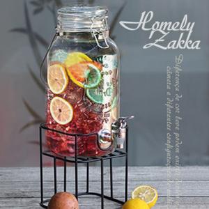 【Homely Zakka】享樂食光大容量浮雕玻璃桶調酒/飲料桶英文標籤款