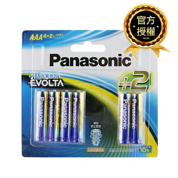 Panasonic國際牌 4號 EVOLTA鈦元素鹼性電池 6入(4+2入裝)